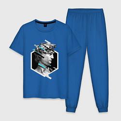 Пижама хлопковая мужская Renaissance David цвета синий — фото 1