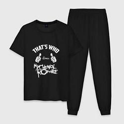 Пижама хлопковая мужская That's Who love My Chemical Romance цвета черный — фото 1