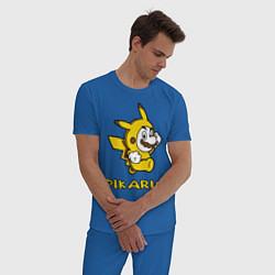 Пижама хлопковая мужская Pikario цвета синий — фото 2