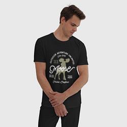 Пижама хлопковая мужская Mosse: Trade Mark цвета черный — фото 2