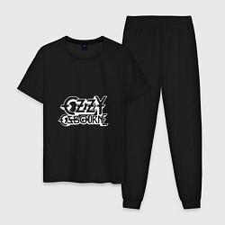 Пижама хлопковая мужская Ozzy Ozbourne цвета черный — фото 1