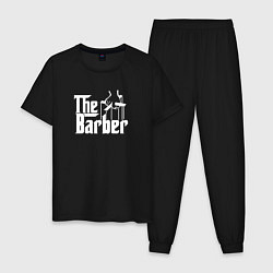 Пижама хлопковая мужская The Barber Godfather цвета черный — фото 1