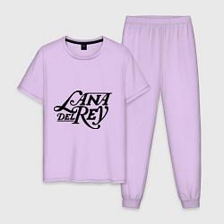 Пижама хлопковая мужская Lana Del Rey цвета лаванда — фото 1