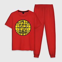 Пижама хлопковая мужская Fallout: Please stand by цвета красный — фото 1