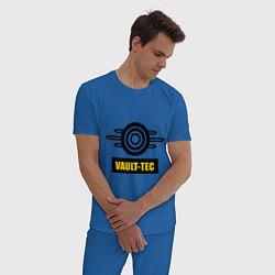 Пижама хлопковая мужская Vault-tec цвета синий — фото 2