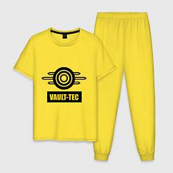 Пижама хлопковая мужская Vault-tec цвета желтый — фото 1