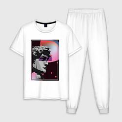 Пижама хлопковая мужская Vapor David цвета белый — фото 1