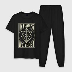 Пижама хлопковая мужская In Flames: We Trust цвета черный — фото 1