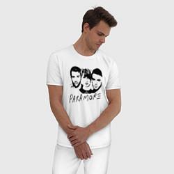 Пижама хлопковая мужская Paramore Band цвета белый — фото 2