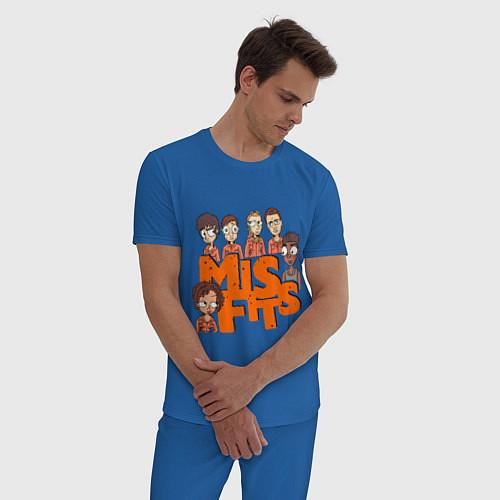 Мужская пижама MisFits Heroes / Синий – фото 3