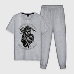 Пижама хлопковая мужская Sons of Anarchy: Redwood Original цвета меланж — фото 1