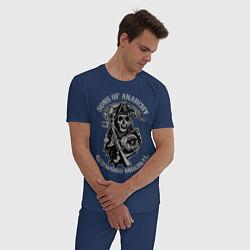 Пижама хлопковая мужская Sons of Anarchy: Redwood Original цвета тёмно-синий — фото 2