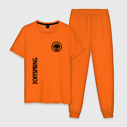 Пижама хлопковая мужская The Offspring цвета оранжевый — фото 1