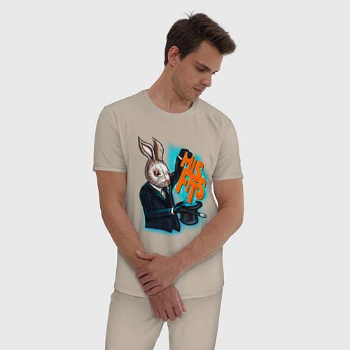 Мужская пижама Rabbit magician / Миндальный – фото 3