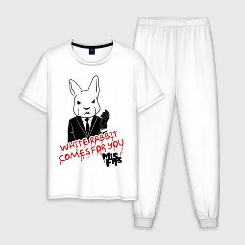 Мужская пижама Misfits: White rabbit / Белый – фото 1