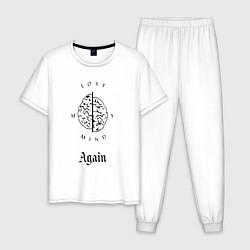 Пижама хлопковая мужская Scarlxrd: Again цвета белый — фото 1