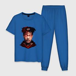 Пижама хлопковая мужская XXXtentacion: Evil Demon цвета синий — фото 1