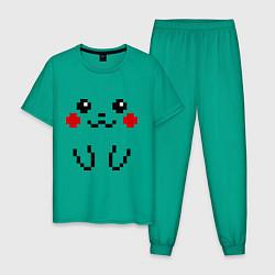 Пижама хлопковая мужская Bit Pikachu цвета зеленый — фото 1