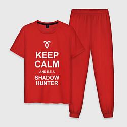 Пижама хлопковая мужская Be a Shadowhunter цвета красный — фото 1