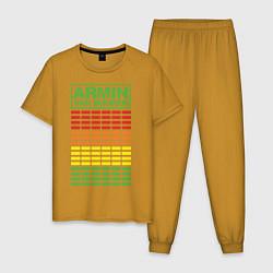 Пижама хлопковая мужская Armin van Buuren: EQ цвета горчичный — фото 1