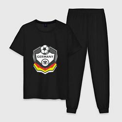 Пижама хлопковая мужская Germany League цвета черный — фото 1