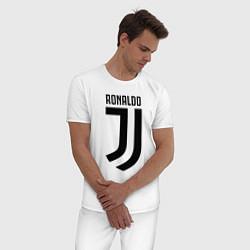 Пижама хлопковая мужская Ronaldo CR7 цвета белый — фото 2