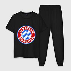 Пижама хлопковая мужская Bayern Munchen FC цвета черный — фото 1