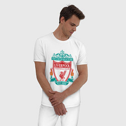 Пижама хлопковая мужская Liverpool FC цвета белый — фото 2