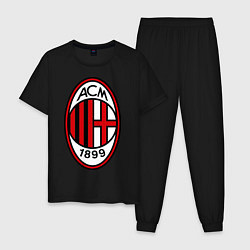 Пижама хлопковая мужская Milan ACM цвета черный — фото 1