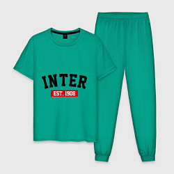 Пижама хлопковая мужская FC Inter Est. 1908 цвета зеленый — фото 1