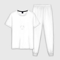 Пижама хлопковая мужская Become Deviant цвета белый — фото 1