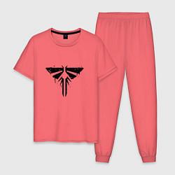 Пижама хлопковая мужская Firefly Graffiti цвета коралловый — фото 1