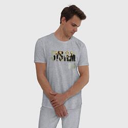 Пижама хлопковая мужская System of a Down цвета меланж — фото 2