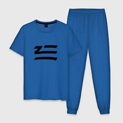 Пижама хлопковая мужская ZHU цвета синий — фото 1