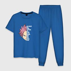 Пижама хлопковая мужская Natsu Quote цвета синий — фото 1