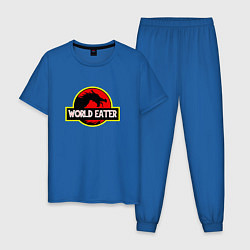 Пижама хлопковая мужская TES: World Eater цвета синий — фото 1