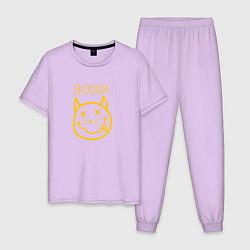 Пижама хлопковая мужская TES: Skooma цвета лаванда — фото 1