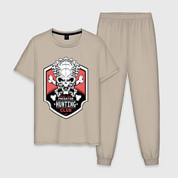 Пижама хлопковая мужская Predator: Hunting Club цвета миндальный — фото 1