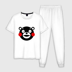 Пижама хлопковая мужская Kumamon цвета белый — фото 1