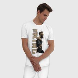 Пижама хлопковая мужская McGregor: The King цвета белый — фото 2