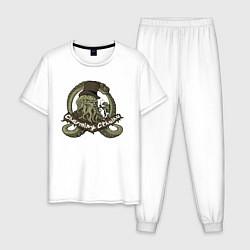 Пижама хлопковая мужская Charming Cthulhu цвета белый — фото 1