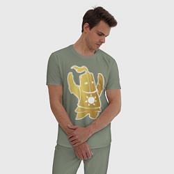 Пижама хлопковая мужская Praise the Sun! цвета авокадо — фото 2