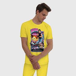 Пижама хлопковая мужская Miami Connection цвета желтый — фото 2