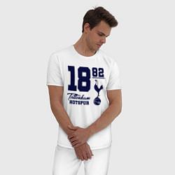 Пижама хлопковая мужская FC Tottenham 1882 цвета белый — фото 2
