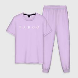 Пижама хлопковая мужская Taboo цвета лаванда — фото 1