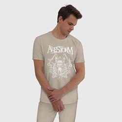 Пижама хлопковая мужская Alestorm: Pirate Bay цвета миндальный — фото 2