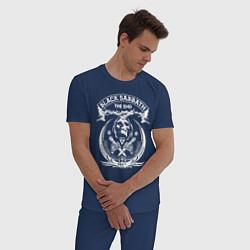 Пижама хлопковая мужская Black Sabbath: The End цвета тёмно-синий — фото 2