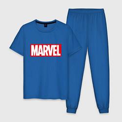 Пижама хлопковая мужская MARVEL цвета синий — фото 1