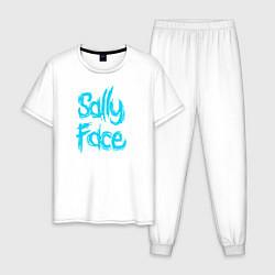 Пижама хлопковая мужская SALLY FACE цвета белый — фото 1