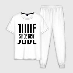 Пижама хлопковая мужская Juve Since 1897 цвета белый — фото 1